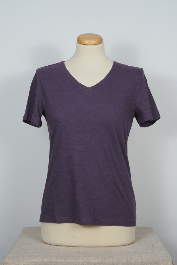 Shirt V-Neck Purple